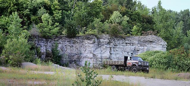quarry face