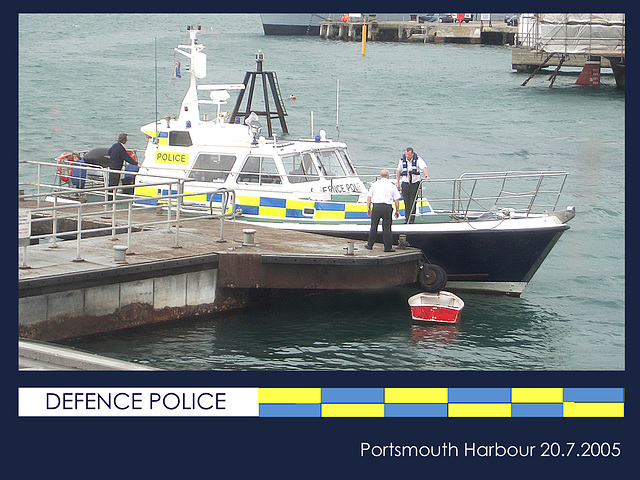Defence Police launch  Portsmouth - 20.7.2005
