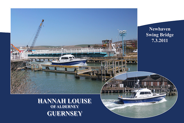 Hannah Louise of Alderney Guernsey Newhaven swing bridge 7 3 2011