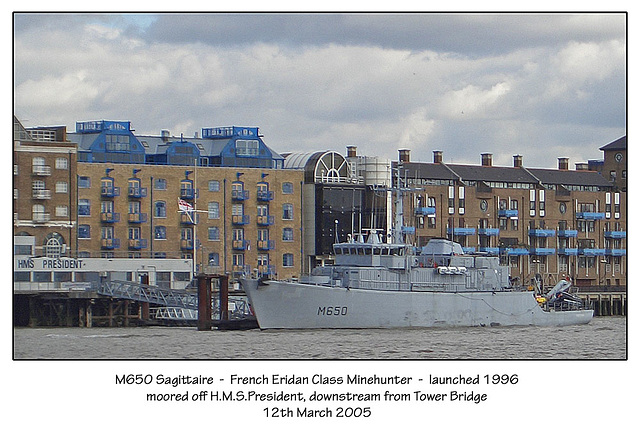 M650 Sagittaire French Eridan Class Minehunter launched 1996 12.3