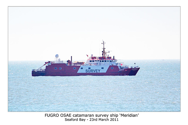 Meridian survey ship Seaford 23 3 2011