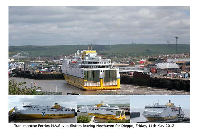 MV Seven Sisters leaving Newhaven 11 5 2012