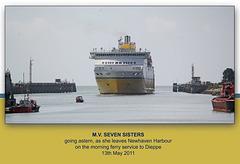 MV Seven Sisters leaving Newhaven - 13.5.2011