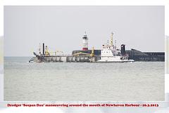 MV Sospan Dau - Newhaven Harbour entrance - 26.3.2103