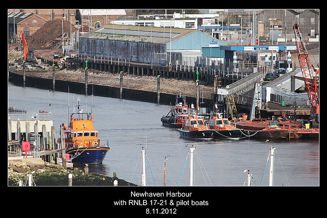 Newhaven Harbour lifeboat and pilot boats - 8.11.2012