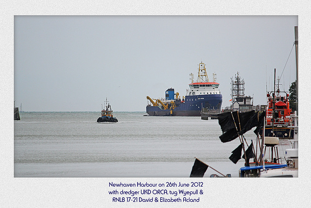 Newhaven Harbour - UKD ORCA & Wyepull - 25.6.2012