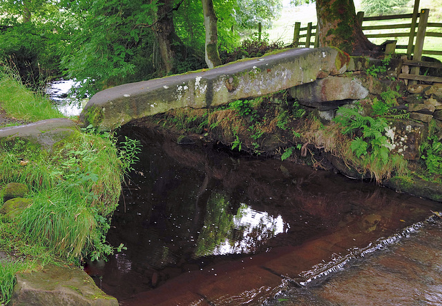 Ancient Clam bridge at Wycoller.