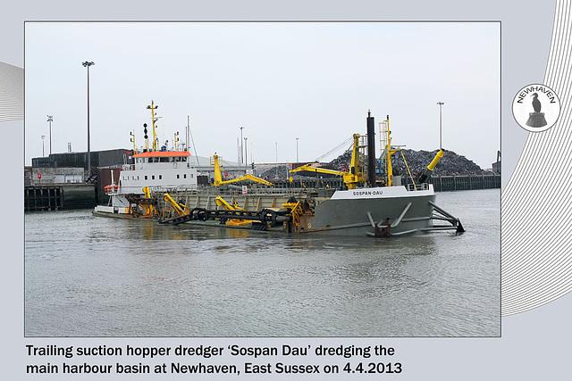 Sospan Dau dredging Newhaven Harbour - 4.4.2013
