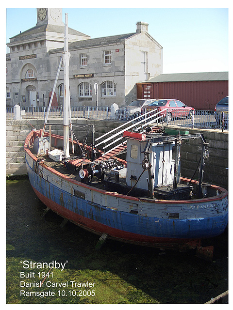 STRANDBY  1941 Danish Carvel Trawler - Ramsgate - 10.10.2005