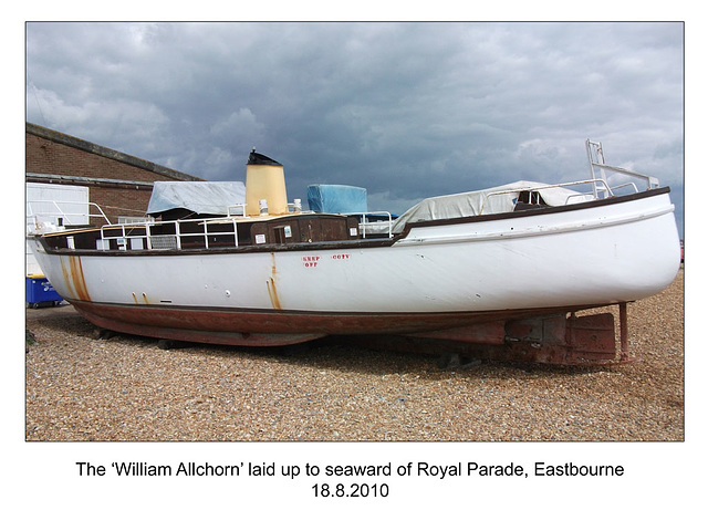 The 'William Allchorn' laid up at Eastbourne - 18.8.2010