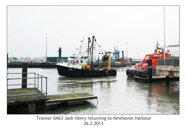 Trawler SM63 Jack Henry - Newhaven - 26.2.2013