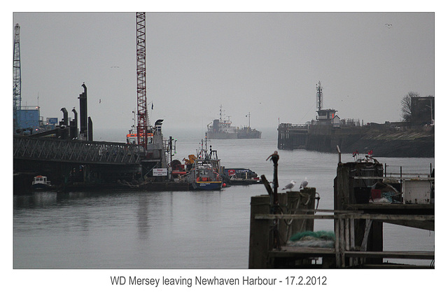 WD Mersey leaving Newhaven - 17.2.2012