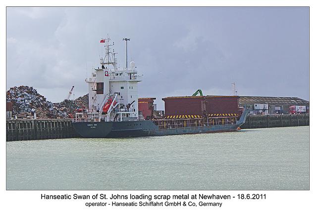 Hanseatic Swan - Newhaven - 18.6.2011
