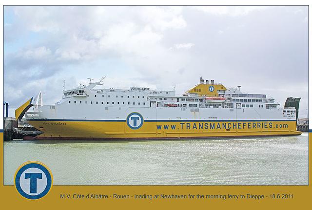 x MV Cote d'Albatre Newhaven 18 6 2011