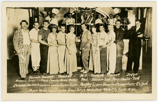 Prize-Winning Couples, Ruty's Walkathon, White City Park, Pottsville, Pa., 1934