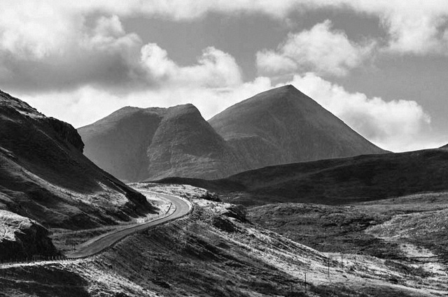 Winding Road, Elphin, Sutherland, Scottish Highlands