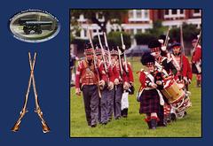Fort Amherst's Napoleonic period reenactors at Peckham Rye advance in column c1999