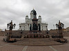 Statue of Czar Alexander II and the Helsinki Cathedral, April 2013