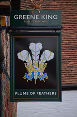 Plume of Feathers pub sign - Crondall
