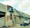 Globeville Lincoln Street underpass murals, public art