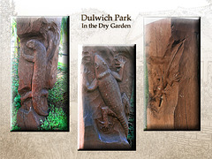 Dry Garden wood carving collage Dulwich Park