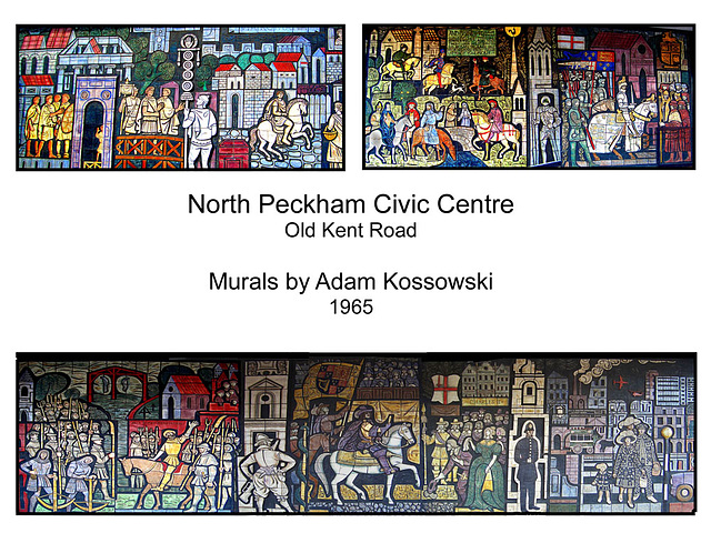 North Peckham Civic Centre mural by Adam Kossowski