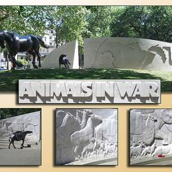 Animals in War - collage 2 - Park Lane London