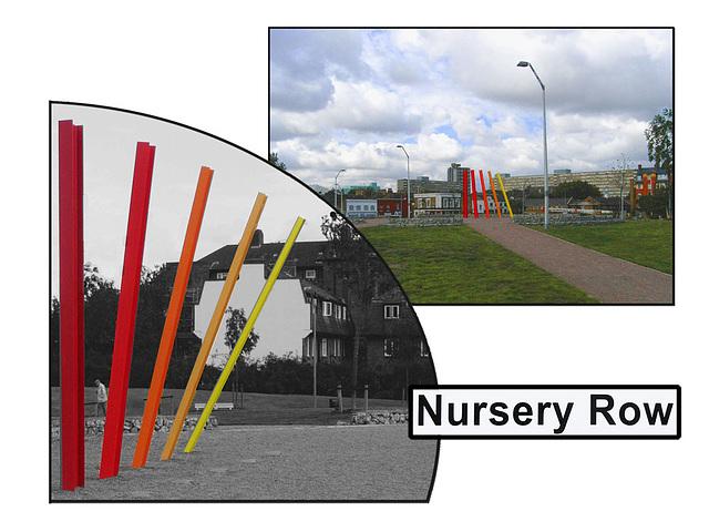 Nursery Row gardens collage - photographed 26.9.2007