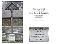 St John Horsleydown War Memorial