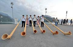 Concert de cors des Alpes...