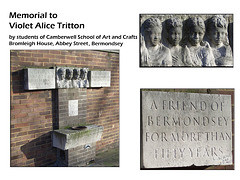 Violet Alice Tritton memorial  by Camberwell College of Arts Students - in Bermondsey - London