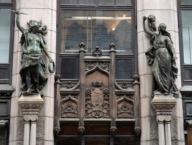 Architectural Detail on a Building in Helsinki, April 2013