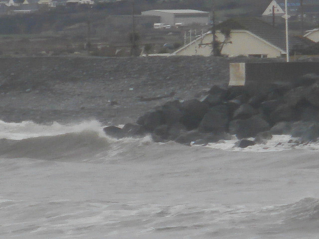 The sea wall is ready for the storm