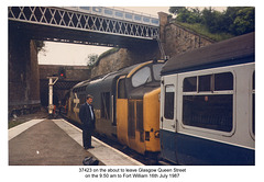 37423 at Glasgow Queen's Street Station on 16.7.87