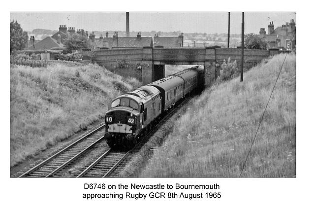 D6746 37046 - near Rugby - 8.8.1965