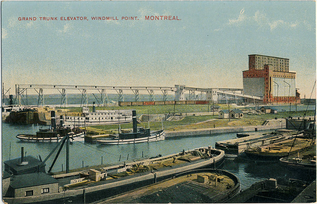 4082. Grand Trunk Elevator, Windmill Point, Montreal.