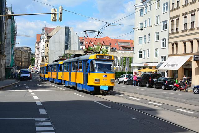 Leipzig 2013 – Tram 2144 on Karl-Liebknecht-Straße