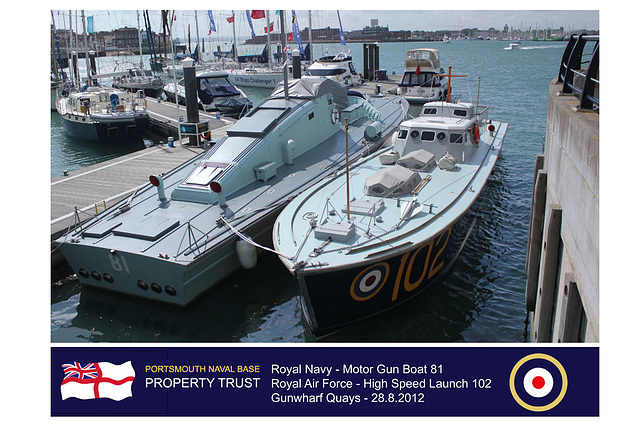 Motor Gun Boat 81 - High Speed Launch 102 - Portsmouth - 28.8.2012