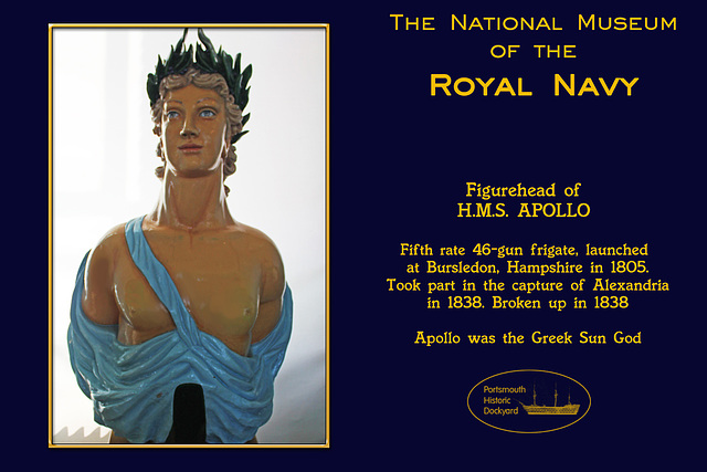 RN Museum figurehead Apollo 28 8 2012