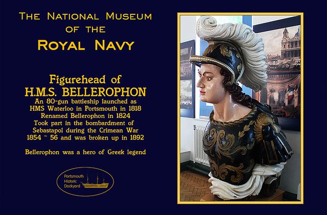 RN Museum figurehead Bellopheron 28 8 2012
