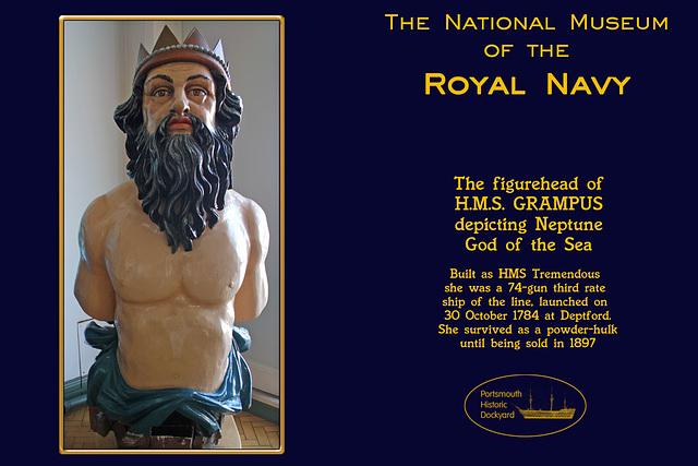 RN Museum figurehead Grampus 28 8 2012
