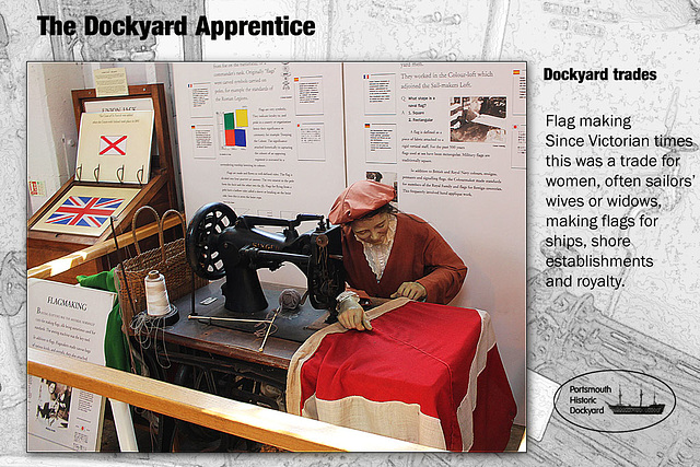 Dockyard Apprentice - flag making 28 8 2012