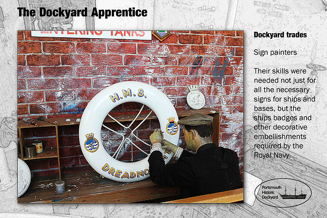 Dockyard Apprentice - sign painting - 28.8.2012