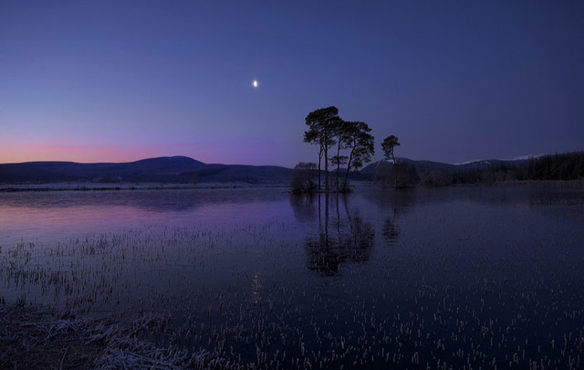 Dawn, Loch Dubh, Ardross, Ross-shire, Scottish Highlands