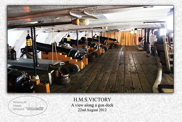 HMS Victory - gun deck - 22.8.2012