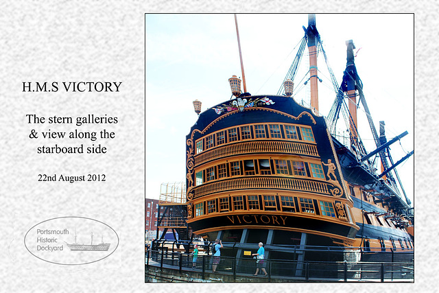 HMS Victory - stern galleries - 22.8.2012