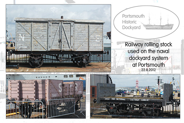 Portsmouth Historic Dockyard - railway rolling stock - 22.8.2012