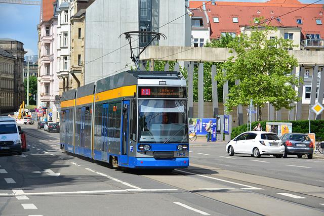 Leipzig 2013 – Tram 1145 on Karl-Liebknecht-Straße