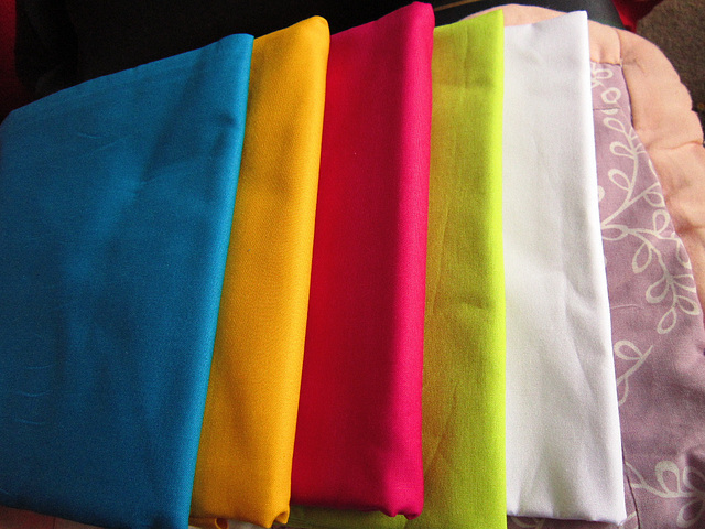 The bright colours of the next quilt