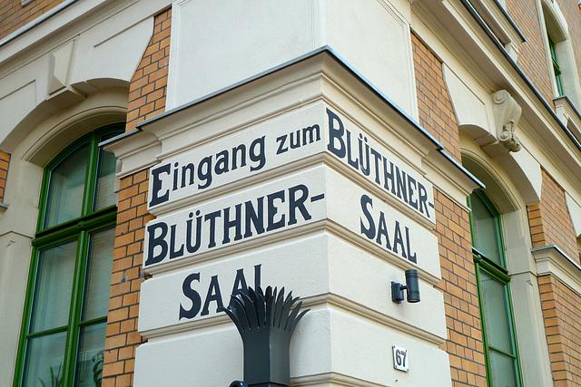 Leipzig 2013 – Eingang zum Blüthner Saal